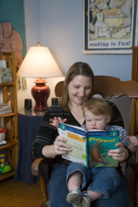 Reading my book Platypus! together
